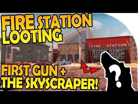 FIRE STATION LOOT - OUR FIRST GUN + SKYSCRAPER - 7 Days to Die Alpha 16 Gameplay Part 3 (Season 2)