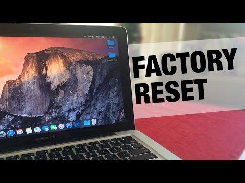 How to Factory Reset your MacBook Pro