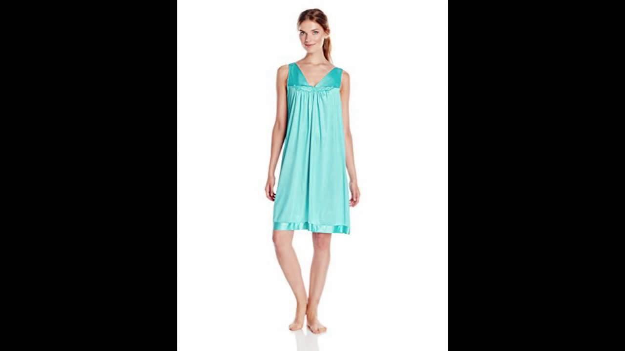 Vanity Fair Women\'s Colortura Sleepwear Short Gown, Mermaid Teal ...
