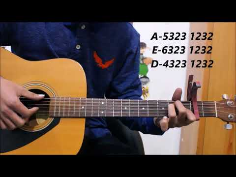 Tere Naam  Unplugged Guitar  Lesson Chords  Tabs  Easy Hindi songs