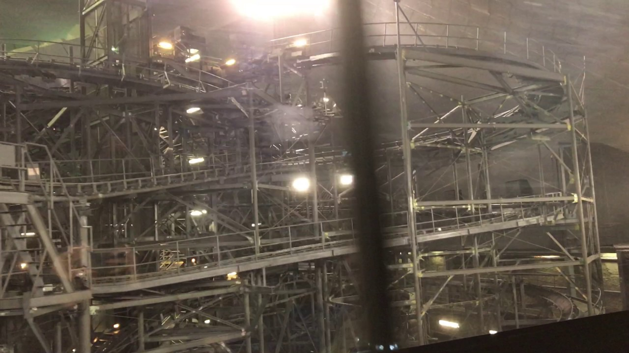Space Mountain Track with Lights On - YouTube