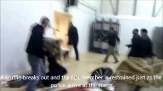 EDL Hijack Respect Party Meeting in Oldham (14-11-10)