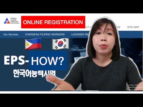 How To Register Online POEA EPS-TOPIK (Factory Worker In South Korea)