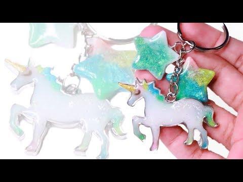 diy easy unicorn charm uv resin tutorial