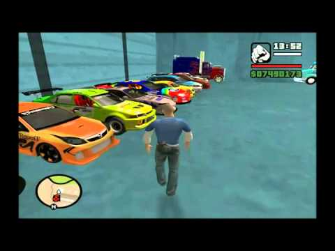 gta sa fast and furious 5 colecion cars vin diesel youtube. Black Bedroom Furniture Sets. Home Design Ideas