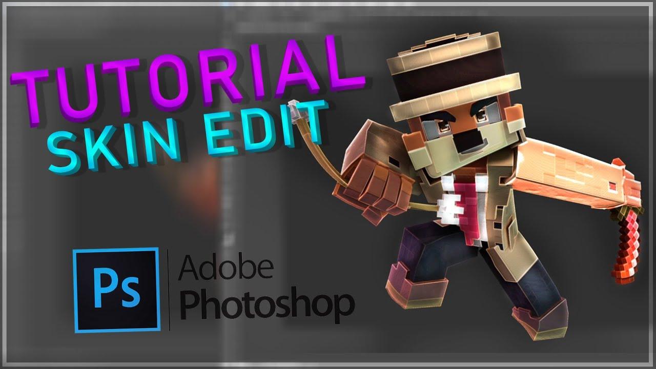 MINECRAFT Skin Render Edit [TUTORIAL] Photoshop  PlayerHD