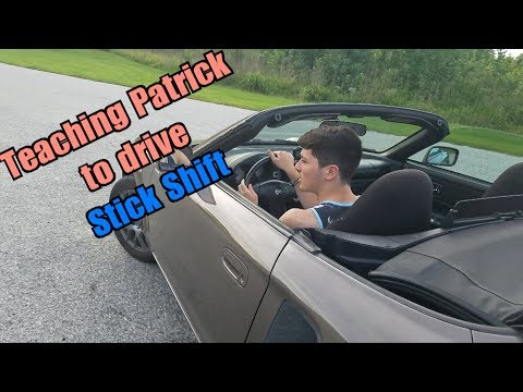 Teaching Patrick how to drive stick shift in my MR2 Spyder