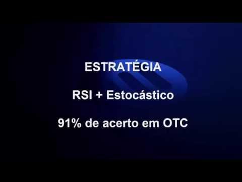 ►IQ Option - Excelente Estratégia OTC (RSI + Estocástico)  91% de acerto◄