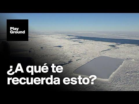 Encuentran un misterioso iceberg con forma de rectángulo perfecto.
