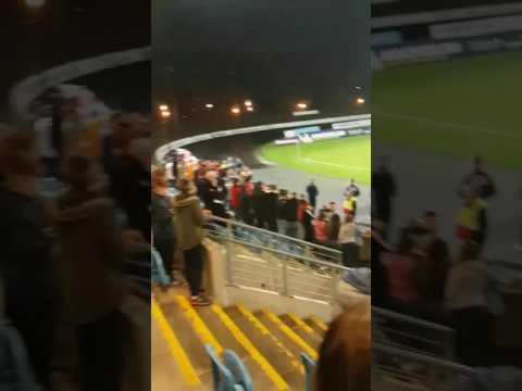 Ballymena united fans. Winning PK v Cliftonville