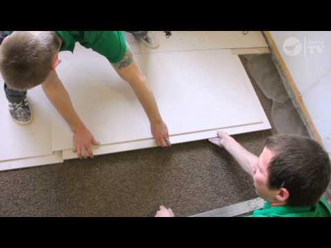 Сухая стяжка пола в квартире плитами Кнауф