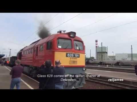 (HD) Big Smokey Russian Brute of a Locomotive in Hungary.