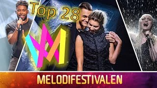 EUROVISION: MELODIFESTIVALEN 2019 TOP 28 (with comments + rating)