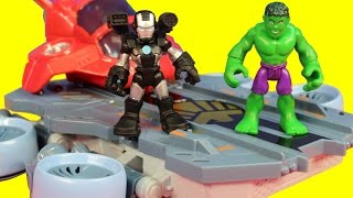 Marvel Super Hero Adventures Playskool Hulk War Machine Vs. Imaginext Bane Riddler Joker