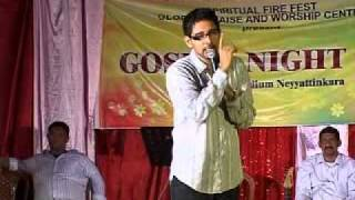 Shaiju Mathew in Gospel Night 2011 at Spiritual Fire Fest Neyyattinkara