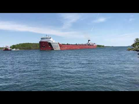Great Lakes Freighter Roger Blough near Mission Point