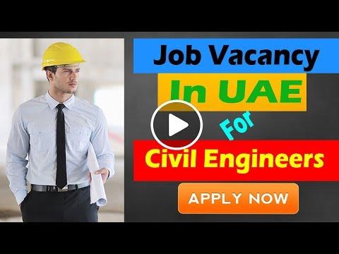 Civil Engineers Job vacancy in UAE (Dubai)