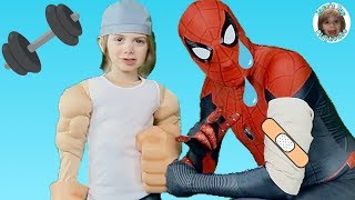 Jaces Toy Playhouse wants to be Strong like Spiderman Far From Home Saves the Day