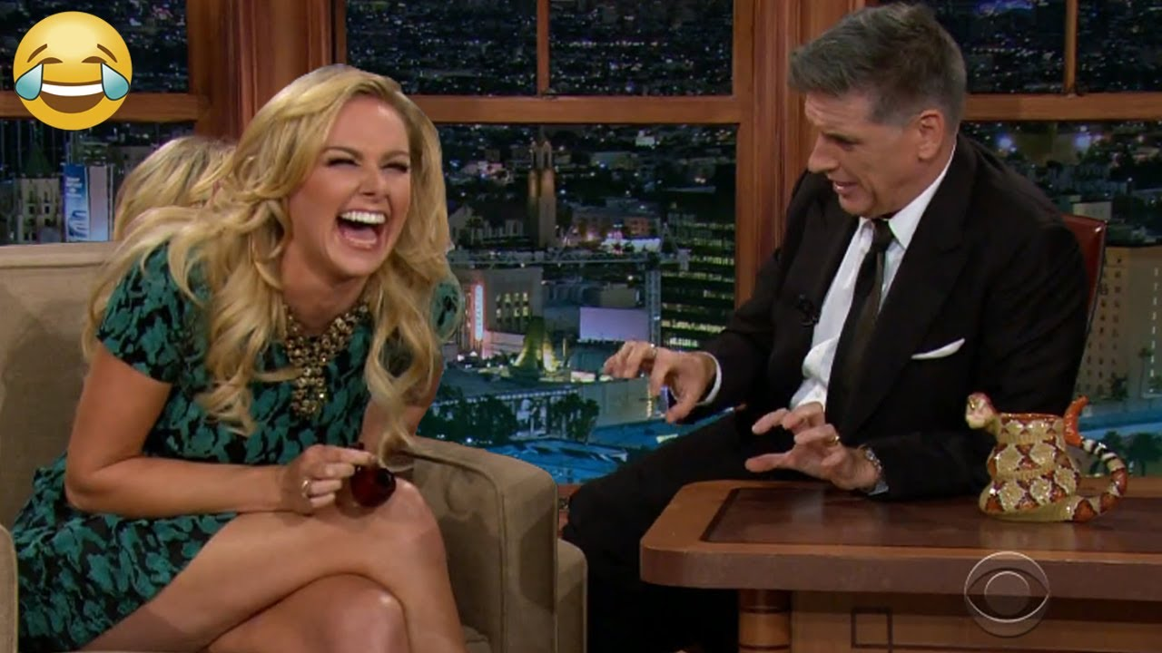 Goregous Women Can't Stop Laughing w/ Craig Ferguson on Late Night Show