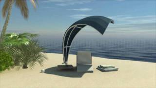 The Wave - An Exclusive Shade Structure Design With A Sail-shaped Palm-thatched Or Canvas Roof