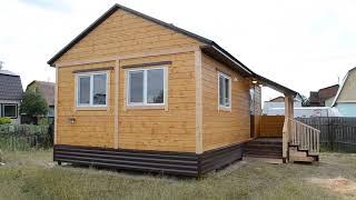 Дачный домик с печкой и крыльцом часть 2