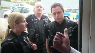 marston bailiff bullies his way into my house with police over a tv licence  !!!PLEASE SHARE!!!