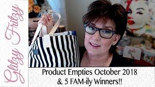 Product Empties October 2018 & 5 Winners!