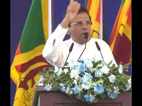 President Maithripala Sirisena Great Speech