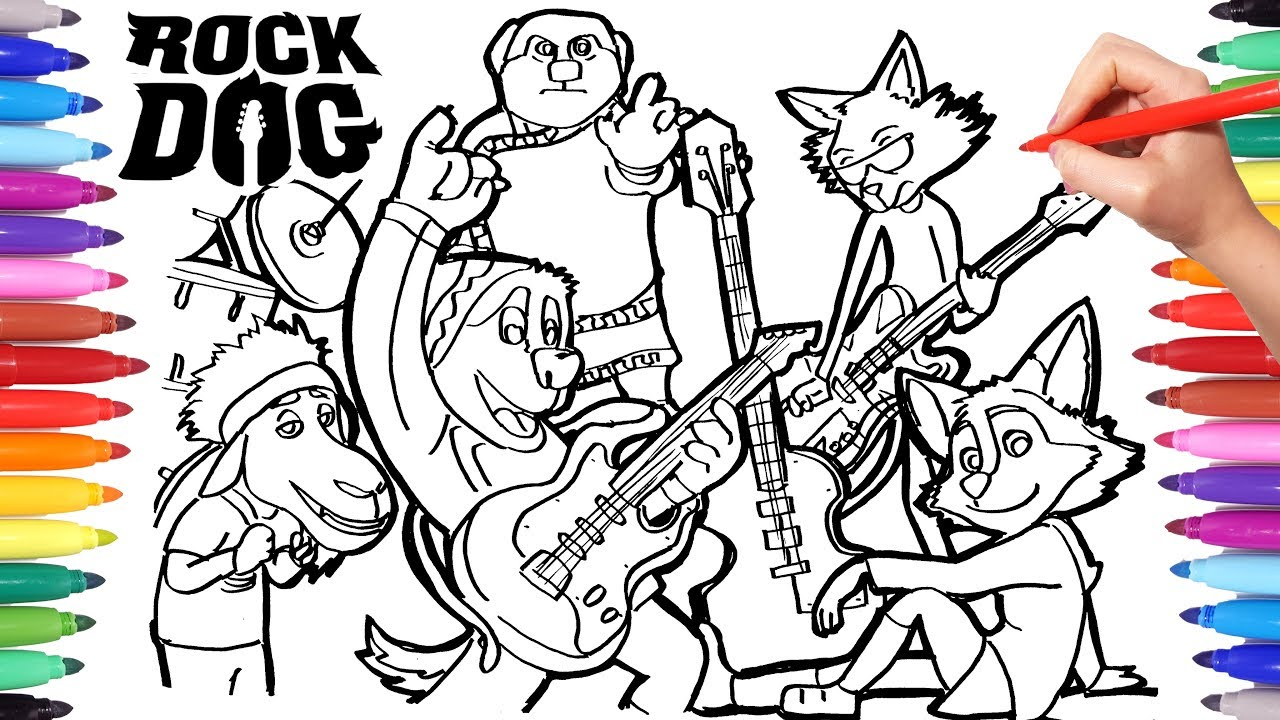 ROCK DOG Coloring Pages For Kids