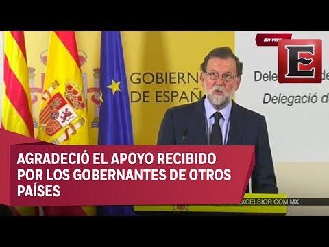 Conferencia de prensa de Mariano Rajoy sobre atentado en Las Ramblas