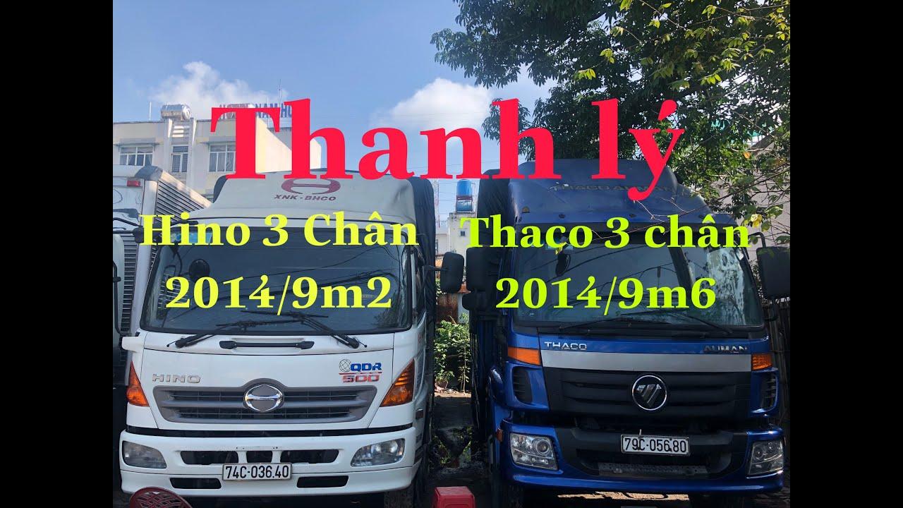 Thanh Lý Xe Tải Cũ Hino 3 Chân 2015 Và Thaco 3 Chân 2014 Thùng Trên 9m2 :0982311317