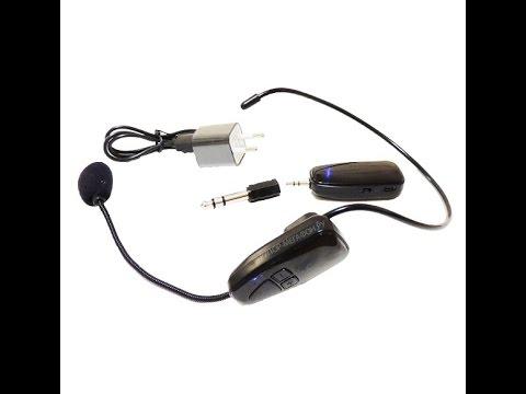 микрофон головной беспроводной - YouTube