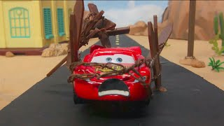 Download LIGHTNING MCQUEEN caught speeding & SHERIFF MISS FRITTER team up in FLORIDA SPEEDWAY OBSTACLE COURSE Mp3 and Videos