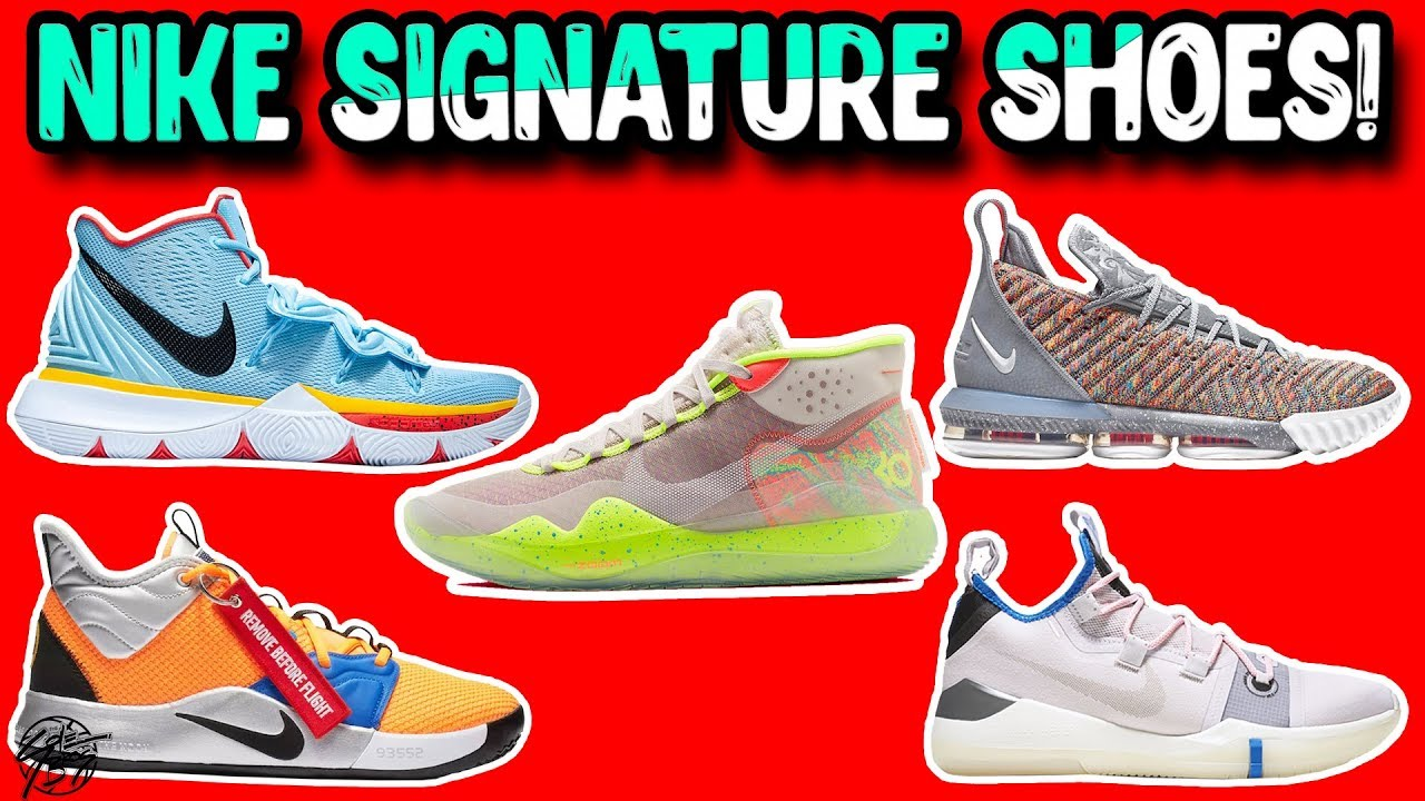 reputable site 1ea12 446e2 Detailed Look   Comparison of Every Signature Basketball Shoe from NIKE!