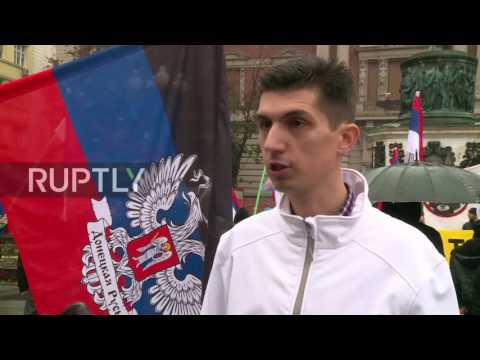 Serbia: Protesters rally against Kosovan government's takeover of Trepca mine