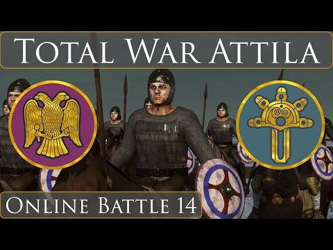 Total War Attila : Online Battle 14 East Rome vs Ostrogoths |