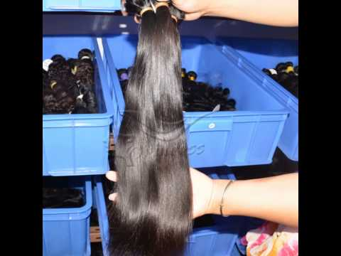 Full cuticle double weft unprocessed cheap virgin brazilian hair wholesale in brazil