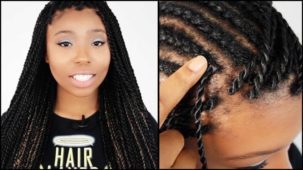 latch hook senegalese twists start to finish in 6 minutes!!!