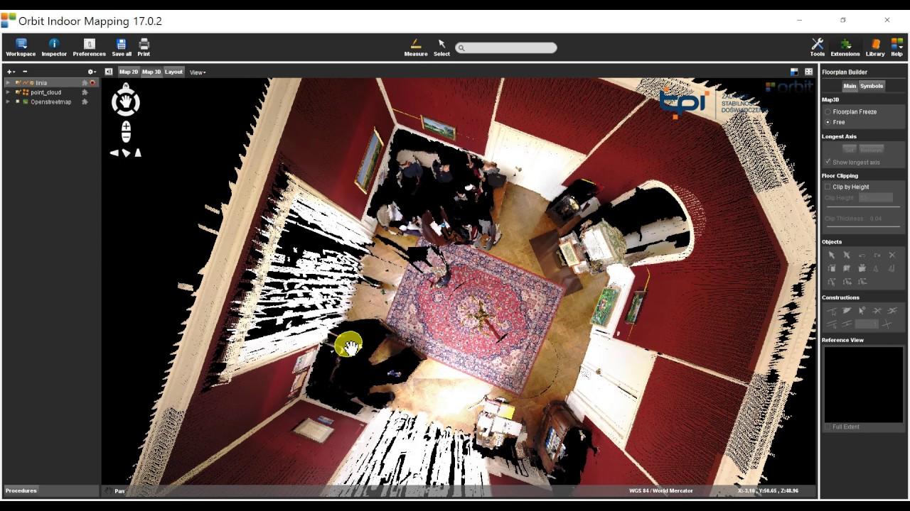 Orbit Indoor Mapping - szybka wektoryzacja