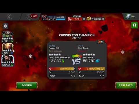 Alliance War Aw Captain America Iw 5r5 / Medusa 5r5 Boss