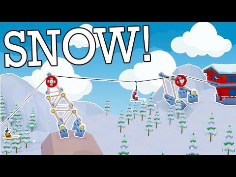 Poly Bridge 2 WINTER DLC?? When Ski Lifts Go Wrong! |
