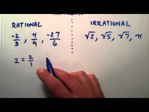 What is the Difference Between Rational and Irrational Numbers , Intermediate Algebra , Lesson 12