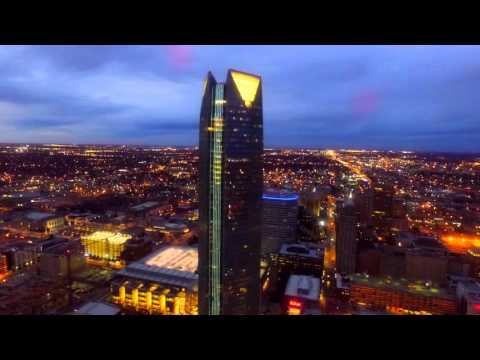 OKC Down Town at Night 2016 by Drone