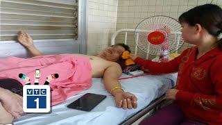 Gẫy đốt sống ngực bị bệnh viện khoan nhầm cẳng chân