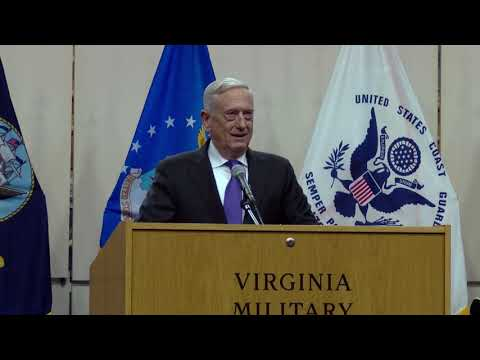 Secretary of Defense Jim Mattis Addresses VMI Cadets