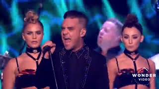 Robbie Williams mixed signals brits awards 2017
