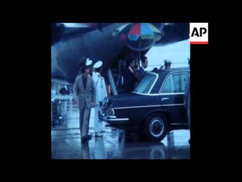 SYND 1 4 75 CAMBODIAN PRESIDENT LON NOL ARRIVES TO THAILAND