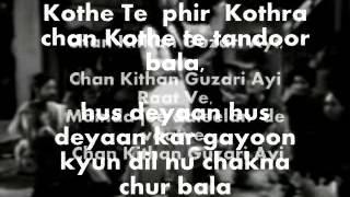 Chan Kithan Guzari Aayi Karaoke