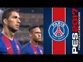 PSG Vs Barcelona PES 2017 Pro Evolution Soccer 2017 Messi Cavanni Champions League mp3