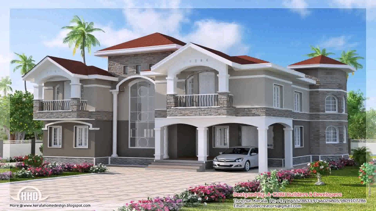 House Front Wall Design India YouTube